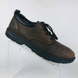 Skechers Relaxed Fit Brown Leather Oxford Size:12